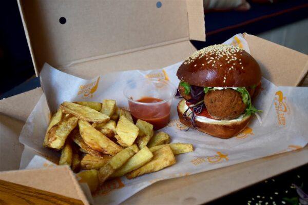 Vegetarian Falafel Burger Box