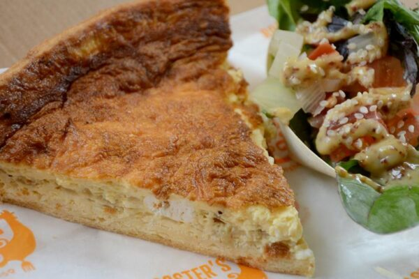 Galway Goats Cheese Quiche (V)