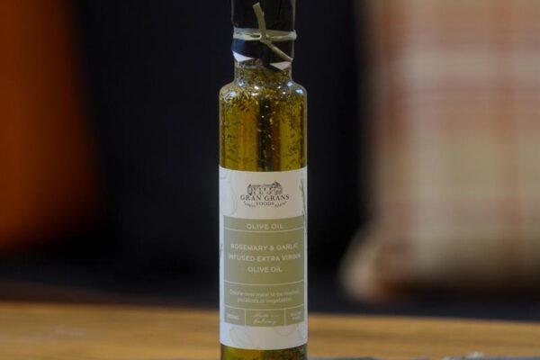 Gran Grans Rosemary & Garlic Infused Extra Virgin Olive Oil 250ml